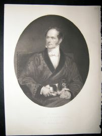 Robert Vernon 1849 Steel Engraving. Antique Portrait Print